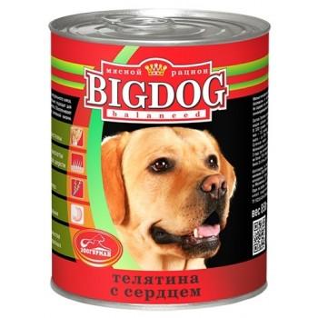 Зоогурман BIG DOG кон.д/собак Телятина с сердцем 850 гр