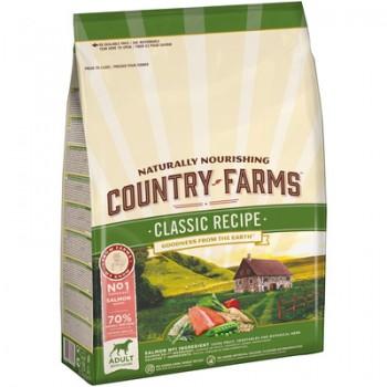 Country Farms/Кантри Фармс Сухой корм для взрослых собак с высоким содержанием лосося, 2.5 кг