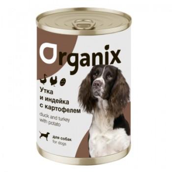 Organix / Органикс Консервы для собак Утка, индейка, картофель, 400 гр