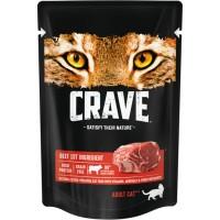 Crave / Крейв полнорационный консервированный корм для взрослых кошек, с говядиной, 70 гр