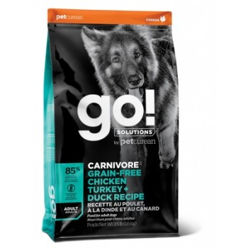 Go! / Гоу! Беззерновой для Взрослых Собак всех пород 4 вида мяса: Индейка, Курица, Лосось, Утка, 1.59 кг