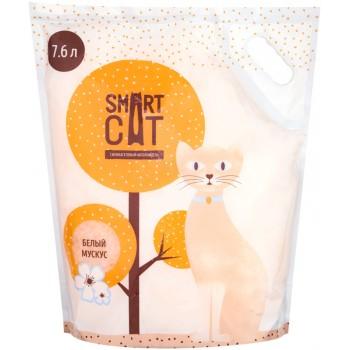 """Smart Cat / Смарт Кэт Силикагелевый наполнитель с ароматом """"белый мускус"""", 7,6л"""