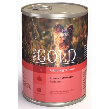 "Nero Gold / Неро Голд консервы для собак ""Свежий ягненок"", 415 гр"
