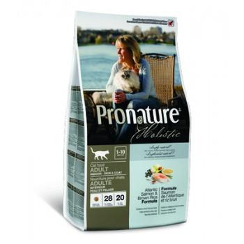 Pronature / Пронатюр Holistic Корм д/кошек, д/кожи и шерсти, лосось с рисом, 2,72 кг