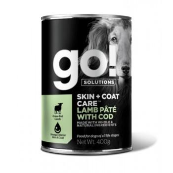 GO! / ГОУ! Консервы с ягненком и треской для собак, 400 гр