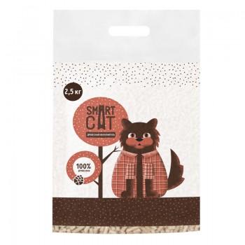 Smart Cat / Смарт Кэт Древесный наполнитель, пеллета 6мм, 2,5 кг