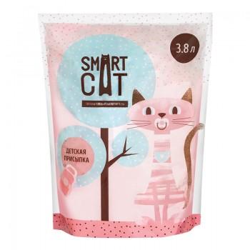 Smart Cat / Смарт Кэт Силикагелевый наполнитель с ароматом детской присыпки, 7,6л