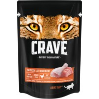 Crave / Крейв полнорационный консервированный корм для взрослых кошек, с курицей, 70 гр