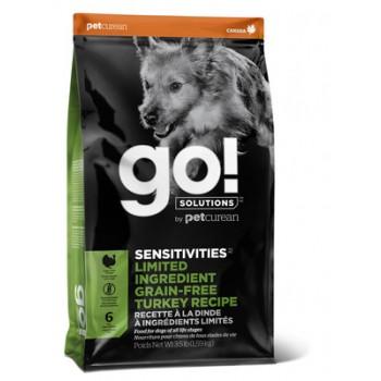 Go! / Гоу! Беззерновой для Щенков и Собак с Индейкой для чувств. Пищеварения, 1.59 кг