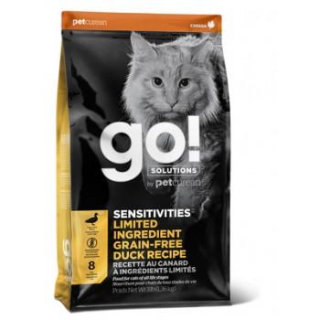 Go! / Гоу! Беззерновой для котят и кошек с чувств. пищеварением со свежей уткой, 1.36 кг