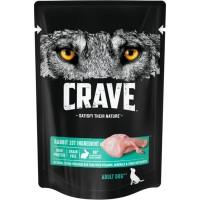 Crave / Крейв полнорационный консервированный корм для взрослых собак всех пород, с кроликом, 85 гр