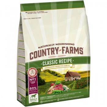 Country Farms/Кантри Фармс Сухой корм полнорационный для взрослых собак, с высоким содержанием ягненка, 2.5 кг