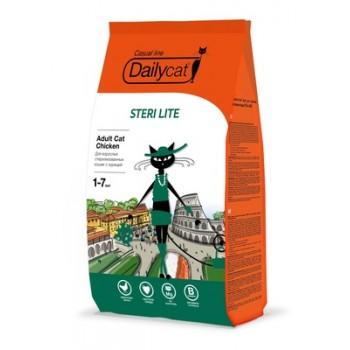 DailyCat / ДейлиКэт Для взрослых стерилизованных кошек с курицей, 10 кг