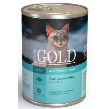 """Nero Gold / Неро Голд консервы для кошек """"Рыбный коктейль"""", 415 гр"""