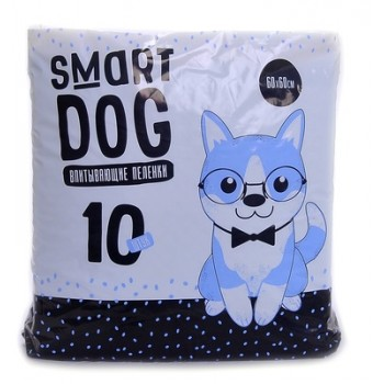 Smart Dog / Смарт Дог Впитывающие пеленки для собак 60*60, 10 шт