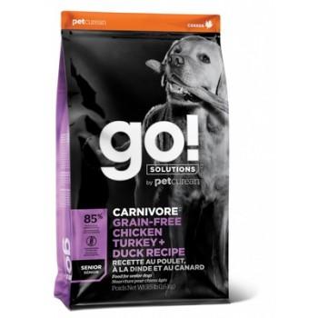Go! / Гоу! Беззерновой для Пожилых Собак всех пород 4 вида мяса: Индейка, Курица, Лосось, Утка, 1.59 кг