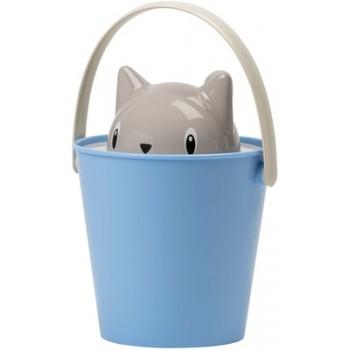 """United Pets ведро для сухого корма """"Cat-Crick"""" 7,5 л, светло-синее, для кошек"""