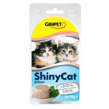 Gimpet / Гимпет Консервы Shiny Cat Kitten с цыплёнком в блистере д/котят, 2*85 г