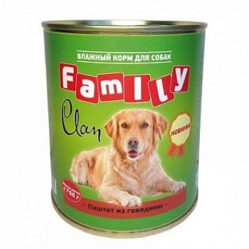 Clan / Клан Family консервы д/собак паштет из говядины, 0,75 кг