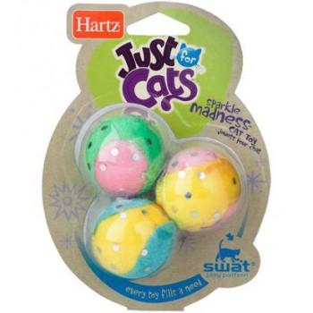 Hartz / Хартц Игрушка д/кошек - Три мячика, мягкая JFC Sparkle Madness cat toy