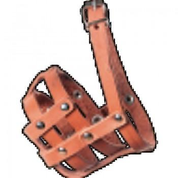 Зооник 1211 Намордник кожаный №0 (пудель, мелкие породы) Р