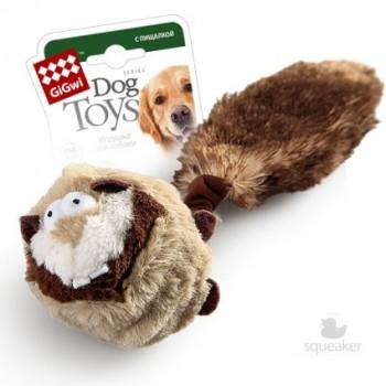GiGwi / ГиГви Игрушка для собак Барсук с пищалками 26 см, серия CATCH & FETCH