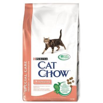 """Cat Chow / Кэт Чоу """"Special Care"""" сухой 1,5 кг для кошек с чувствительным пищеварением"""