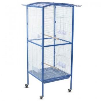 Triol / Триол Клетка BC27 для птиц, эмаль, бело-синяя, 600*600*1580мм