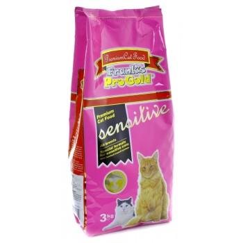 """Frank's ProGold / Франкс ПроГолд для чувствительных кошек """"Ягненок по-голландски"""" (Sensitive 32/18) 3 кг"""