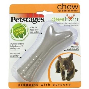 Petstages / Петстейджес игрушка для собак Deerhorn, с оленьими рогами 12 см маленькая