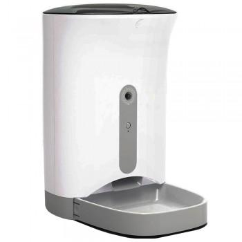 Petwant Автокормушка 4,3 л для сухого корма с видеокамерой, Wi-Fi (IOS/Android), серая