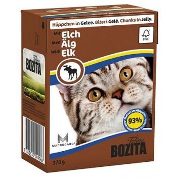 Bozita / Бозита кон.д/кошек Кусочки в желе с Лосем 370гр