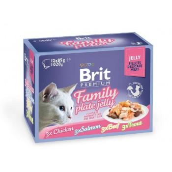 Brit / Брит премиум Набор паучей д/к Family Plate Jelly Семейная тарелка (кусочки в желе) 12x85 г, 519408