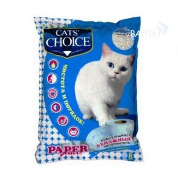 Cat`s Choice Наполнитель бумажный комкующийся с эффектом маркера 8 л
