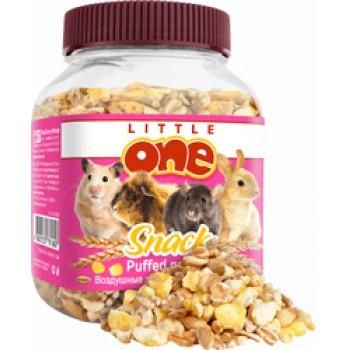 Little One Лакомство для грызунов Воздушные зерна (смесь зерен кукурузы, пшеницы и ячменя) 100 г (банка) (1х6) 32030