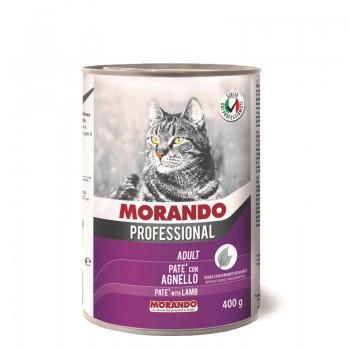 Morando / Морандо Professional консервированный корм для кошек паштет с ягненком, 400г, жб