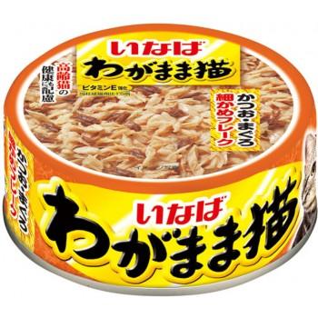 Inaba Вагамама ж/б для кошек желе микс тунцов+вяленый полосат.тунец, 115 гр