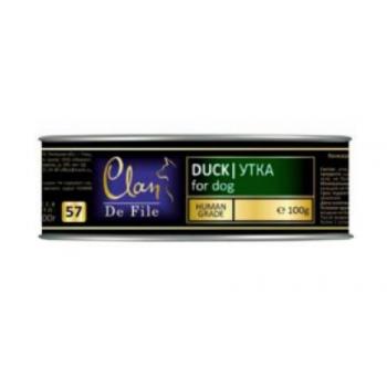 Clan / Клан De File консервы для собак Утка, 0,1 кг