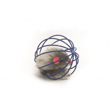 """Beeztees / Бизтис 425021 Игрушка д/кошек """"Мышь меховая в металлическом шаре"""", в ассорт. 5,5см"""