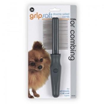 JW Расческа для собак двухсторонняя: частые и редкие зубья Grip Soft Dog Double Sided Comb (65030)