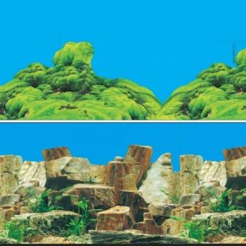 Jebo / Джебо 9023/9064 Фон аквариумный 0,5*15м Каменное многоцветье/Морской каньон