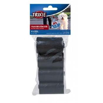 Trixie / Трикси 2332 Пакеты для уборки за собаками 4 рулона по 20 штук, 3л, черные, для всех диспенсеров