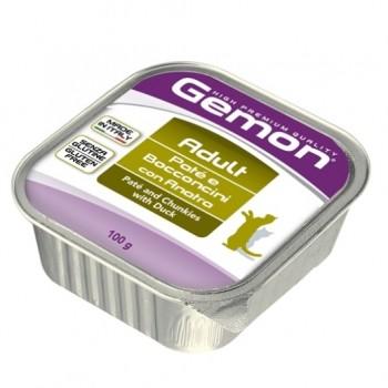 Gemon / Гемон Cat консервы для кошек паштет с кусочками утки 100 г