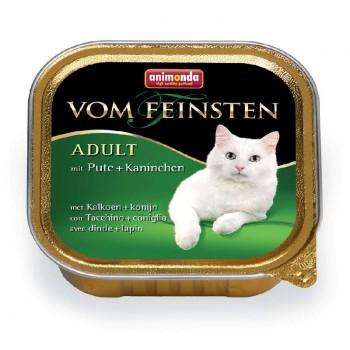 Animonda Vom Feinsten Classic конс. 100 гр. с индейкой и кроликом для кошек(ламистер) 83442(83205)