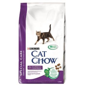 """Cat Chow / Кэт Чоу """"Special Care"""" сухой 1,5 кг для кошек Контроль шерсти"""