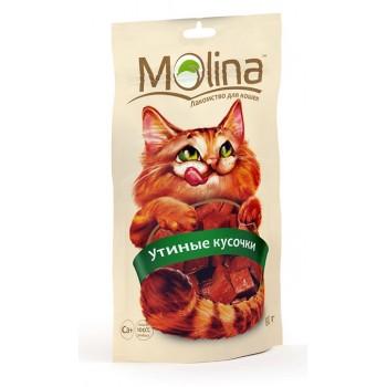 Molina / Молина Лакомство д/кошек Утиные кусочки, 80г