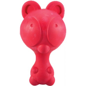 JW Игрушка д/собак - Мишка с пищалкой, каучук Ruffians Bear (43203)