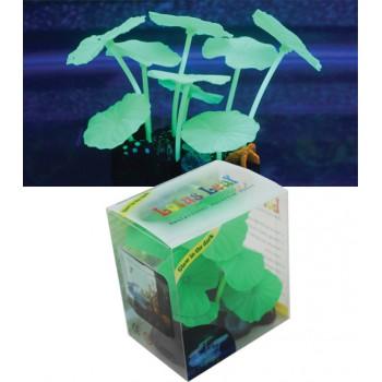 Jelly-Fish / Джелли-Фиш Листья лотоса зеленые силиконовые (9 шт), 9*7*11 см