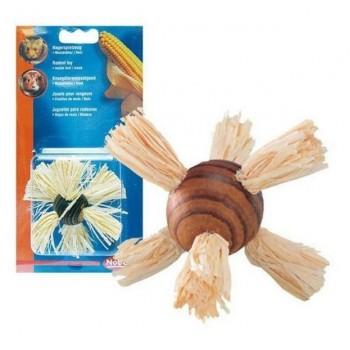 Nobby / Нобби Игрушка для грызунов Шар с кукурузой 7см (1х3) (из дерева и листьев кукурузы) 80172