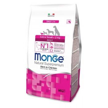 Monge / Монж Dog Extra Small корм для взрослых собак миниатюрных пород с курицей 800г